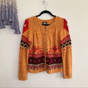 Vintage • planet earth Aztec bauble loomed sweater